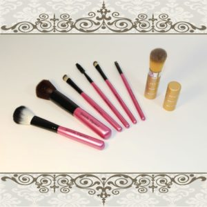 makeup brush set and retractable brush